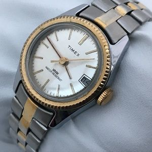 Timex Ladies Watch Silver Gold Tone Hand Winding